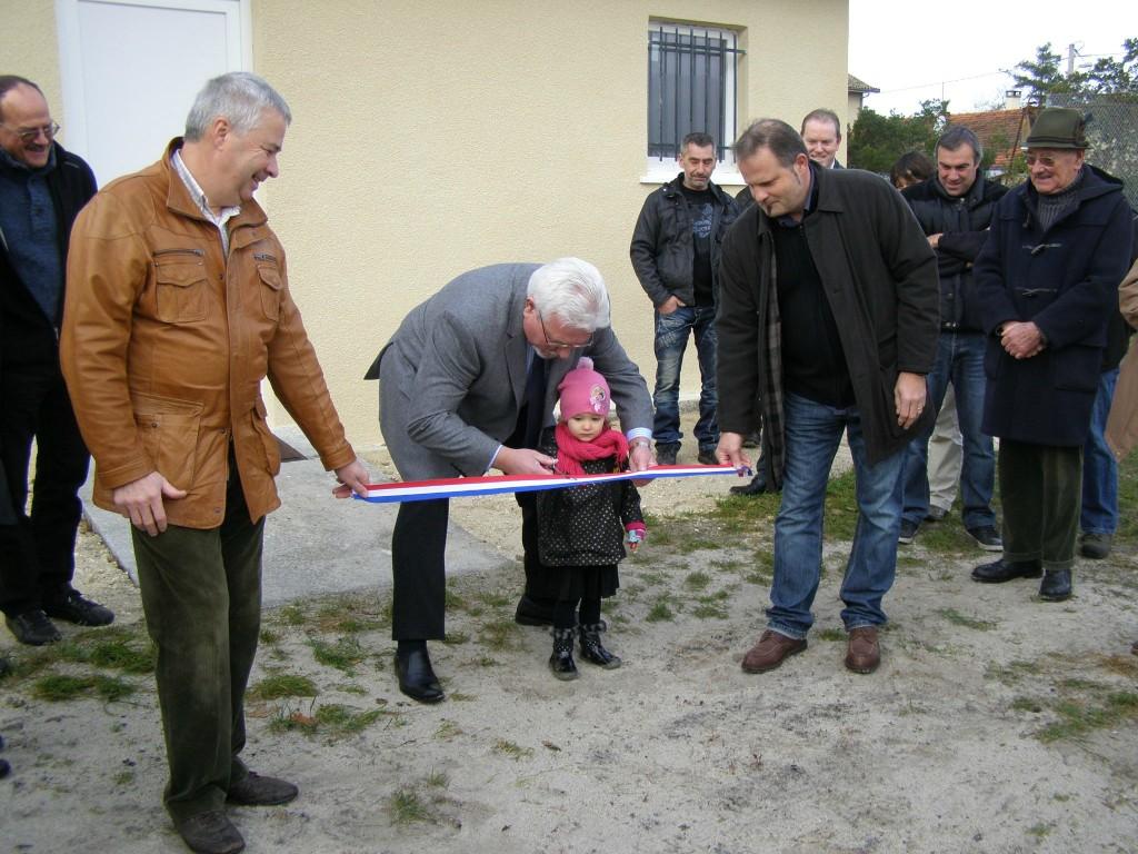 Inauguration des vestiaires (Club House) de Saint Isidore.