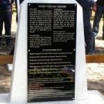 Stèle en hommage aux aviateurs morts à Naujac