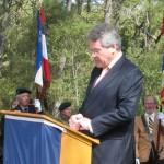Son excellence Sir Peter WESTMACOTT, Ambassadeur de Grande Bretagne au cours de son allocution.